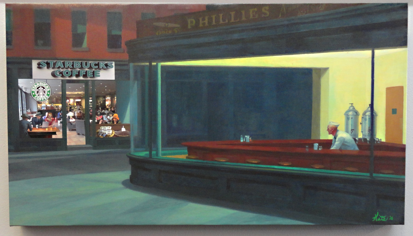 """NightBucks"" (canvas 20x36)"
