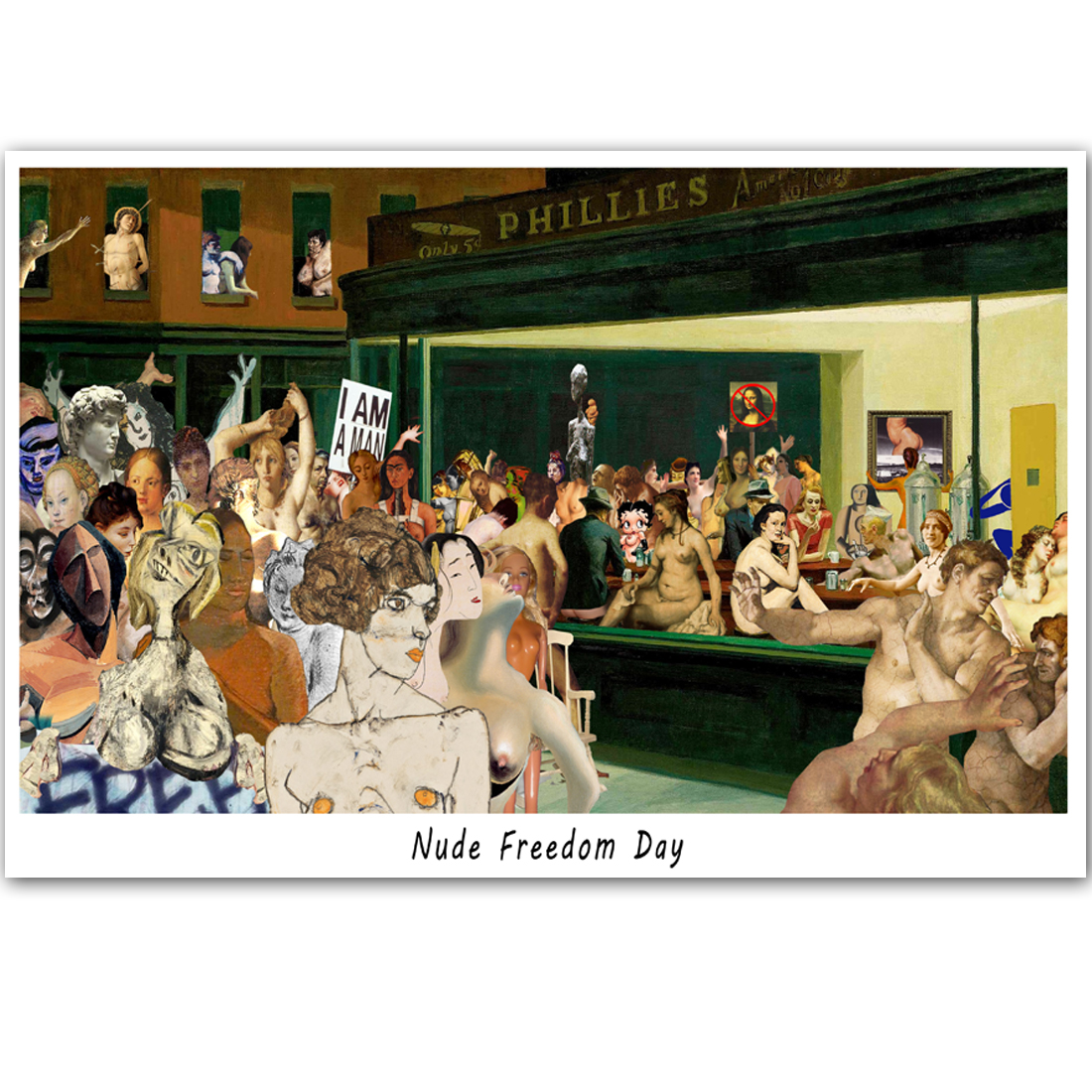 C353 Nude Freedom Day
