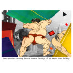 C460 Sumo Wrestlers Throwing Barnett Newman Paintings off the Empire State Building