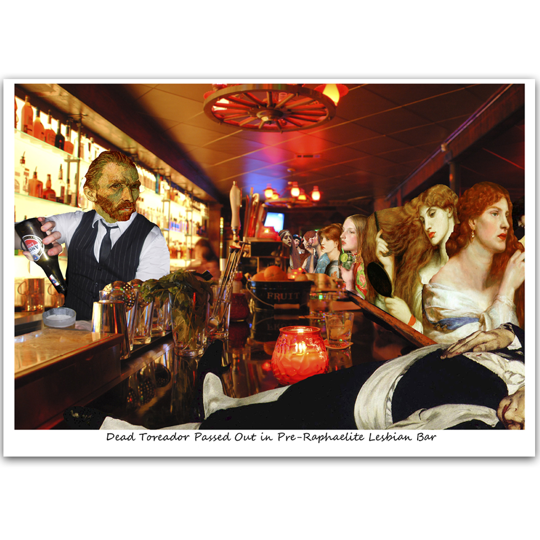 C468 Dead Toreador Passed Out in Pre-Raphaelite Lesbian Bar