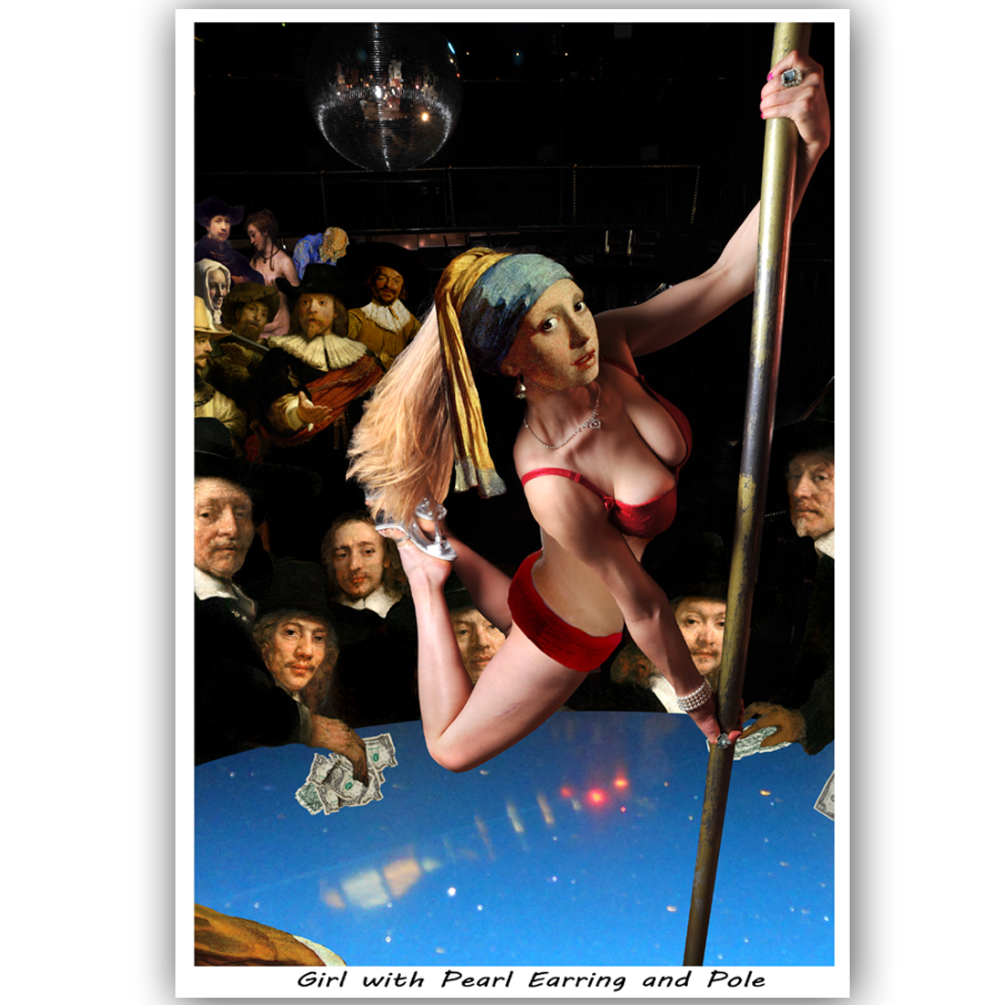 Girl with Pearl Earring and Pole