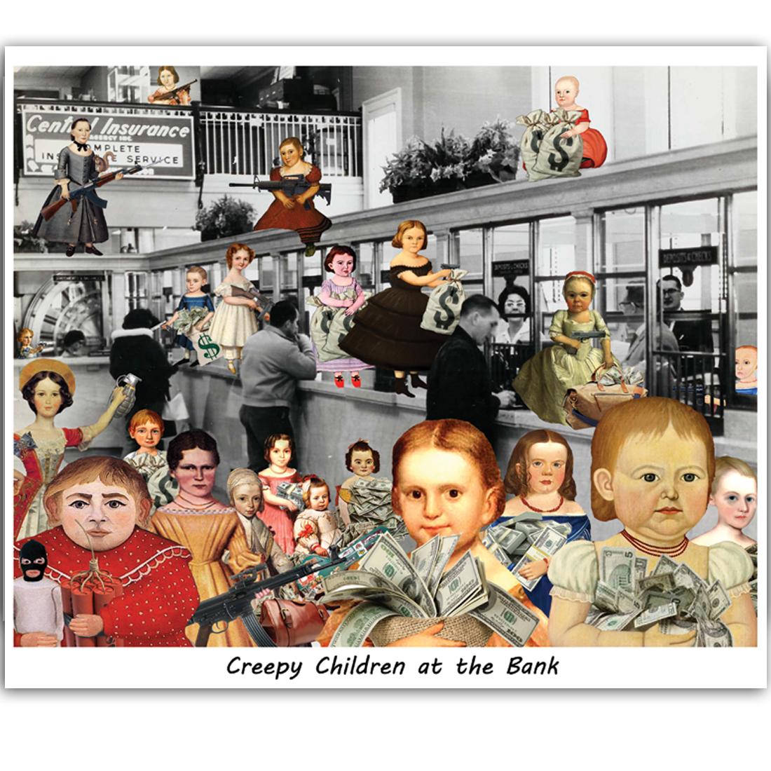 Creepy Children at the Bank