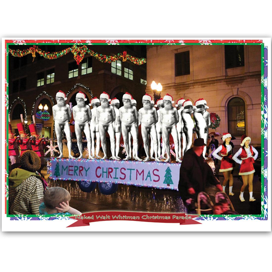 Naked Walt Whitman Christmas Parade